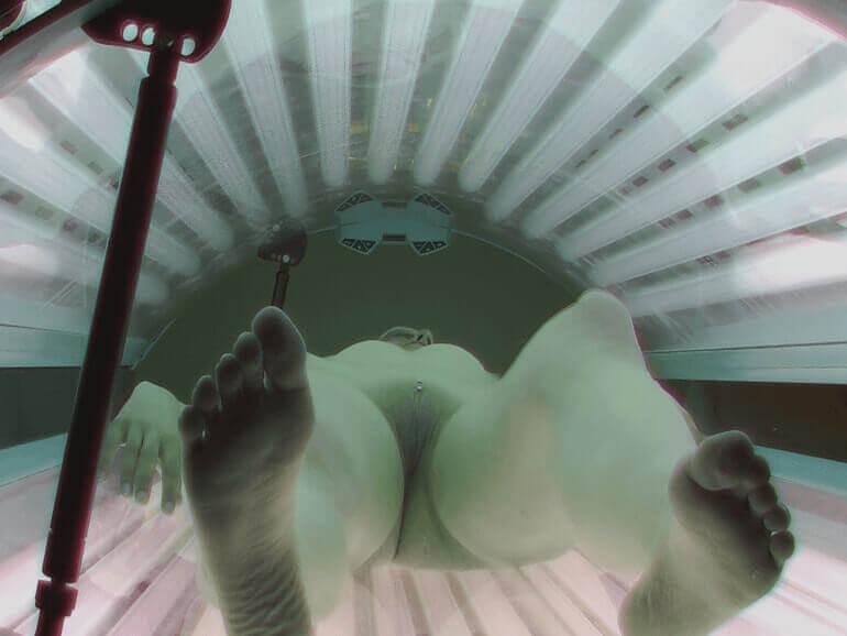 Unzensierte Voyeur Nacktbilder aus deutschem Sonnenstudio